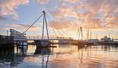 Winyard Crossing, Viaduct Bassin, Auckland, Nordinsel, Neuseeland, Ozeanien