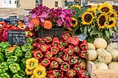 Market on Place Richelme, Aix en Provence, France