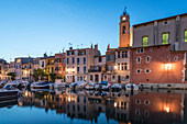 Little Venice on the Canal de Caronte in Martigues, Eglise Sainte Marie-Madelaine, Bouches-du-Rhône, France
