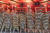 Bistro chairs of the restaurant Les Ponchettes, Place Charles Felix, Nice