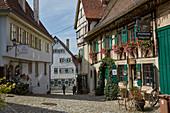 Altstadt mit Fachwerkhäusern in Nürtingen am Neckar, Baden-Württemberg, Deutschland
