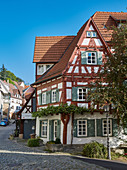 Old town with half-timbered houses in Esslingen am Neckar, Baden Würtenberg, Germany