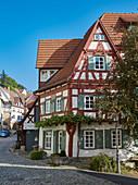 Altstadt mit Fachwerkhäusern in Esslingen am Neckar, Baden-Württemberg, Deutschland