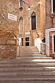 Outdoor Stairway, Ponte Storto, Venice, Italy