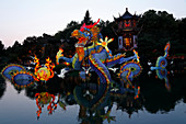 Chinese Lights Festival in the Montreal Botanical Garden, Quebec, Canada