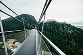 Highline 179 suspension bridge over treetops, Tyrol, Austria
