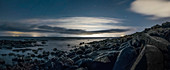 Scenic view rocky, remote beach, Reykjanesbaer, Iceland