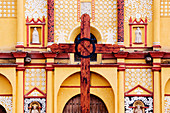 Wooden Cross in Front of Church,Chiapas, Mexico