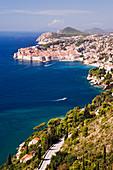 Küstenansicht der Altstadt von Dubrovnik, Kroatien