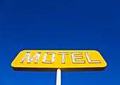 Yellow Neon Motel Sign, USA