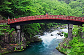 Asian Bridge Crossing a River, Nikko, Japan