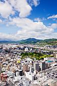 Aerial Japanese Cityscape, Kyoto, Japan