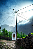 Cape Verde, Island Santo Antao, landscapes, mountains, green valley, religion