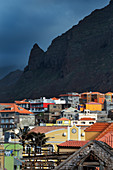 Cape Verde, Island Santo Antao, landscapes, mountains, green village