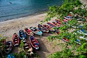 Cape Verde, Island Santiago, beach, boats, colorfull\n