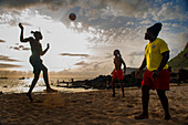 Cape Verde, Island Santiago, beach, sunset, football\n\n\n