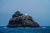 Cape Verde, Island Sao Vincente, Mindelo, fortress in front of harbour