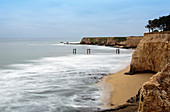 The old pier in Davenport, California