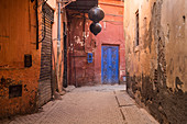 A typical alley in Marrakech, Morocco