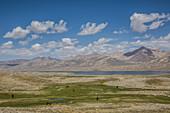 Lake Zorkul, border Afghanistan and Tajikistan, Pamir, Asia