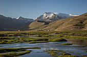 Mountain river in the Pamir, Afghanistan, Asia