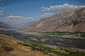 River Panj in Wakhan, border Afghanistan and Tajikistan, Asia