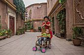 Children in the old town of Kashgar, China, Asia