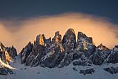 Berge, Geislerspitzen, Dolomiten, Italien