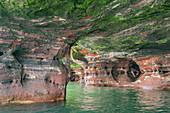 Erodiertes Seeufer, Apostelinsel National Lakeshore, Lake Superior, Wisconsin