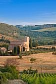 Die Abtei von Sant'Antimo, Sant'Antimo, Toskana, Italien, Europa