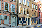 Classic Georgian townhouses and architecture in Spitalfields, London, England, United Kingdom, Europe