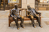 The Churchill And Roosevelt, Allies Sculpture, on New Bond Street, in Mayfair, London, England, United Kingdom, Europe