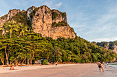 Karst scenery at Ao Nang beach in Krabi, Thailand, Southeast Asia, Asia