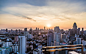 Bangkok skyline at sunset