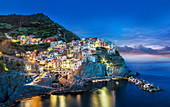 Manarola in the Cinque Terre Italy at night