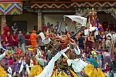 Dancer with deer mask, Thimphu Tshechu, Bhutan, Himalayas, Asia