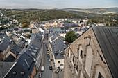 View on historic old town of Sankt Annenkirche, UNESCO World Heritage Montanregion Erzgebirge, Annaberg, Saxony