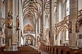 Freiberger Dom St Marien, historische Altstadt Freiberg, UNESCO Welterbe Montanregion Erzgebirge, Sachsen