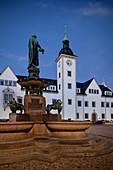 Rathaus am Obermarkt, historische Altstadt Freiberg, UNESCO Welterbe Montanregion Erzgebirge, Sachsen