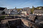 "Foundations of the ""Long Hut"", Saigerhütte complex Gr? Nthal, UNESCO World Heritage Montanregion Erzgebirge, Marienberg, Saxony"