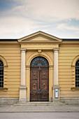 Historic waterworks at the Hochablass, UNESCO World Heritage Historic Water Management, Augsburg, Bavaria, Germany