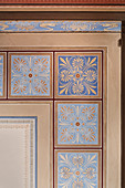 Ornaments on ceiling of Historic Waterworks at Hochablass, UNESCO World Heritage Historic Water Management, Augsburg, Bavaria, Germany