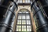 Pressure vessel in historic waterworks at the Hochablass, UNESCO World Heritage Historic Water Management, Augsburg, Bavaria, Germany