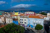Cape Verde, Sao Vincente island, Mindelo, harbour view, Aireal
