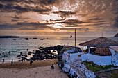 Cape Verde, Santiago Island, Beach, Tarrafal, sunset
