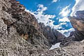 Langkofelscharte, St. Christina in Gröden, Grödner Dolomiten, Südtirol, Alto Adige, Italien