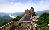View from the castle ruins Aggstein over the Danube in the Wachau, Lower Austria, Austria