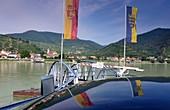 Ferry near Spitz on the Danube in the Wachau, Lower Austria, Austria
