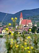 View on St Michael near Spitz on the Danube in the Wachau, Lower Austria, Austria