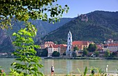 View over the Danube near Dürnstein, Wachau, Lower Austria, Austria